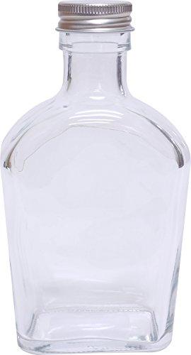 アンジュ ハーバリウムボトル ガラス瓶 幅75mm×奥行40mm×高さ140mm ウィスキー NAT-7007