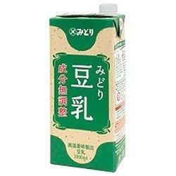 九州乳業 みどり 豆乳 成分無調整 1000ml紙パック×12(6×2) 本入
