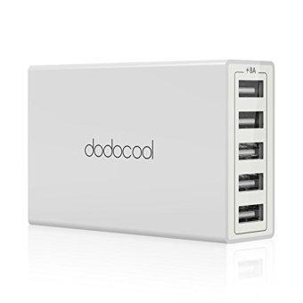 dodocool USB充電器 急速充電 40W 5ポート iPhone / iPad / Androidスマホ/タブレットに対応(ホワイト)