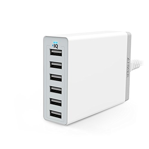 Anker PowerPort 6(60W 6ポート USB急速充電器)【PSE認証済/PowerIQ搭載】 iPhone, iPad, Xperia, Galaxy ...