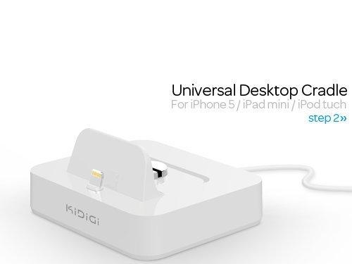 KiDiGi  クレードル for iPhone5 / iPad mini / iPod tuch Lightning  ホワイト