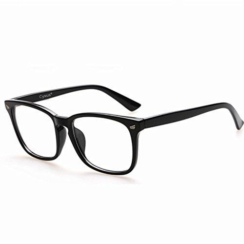 Cyxus 青色光 カットめメガネ [透明レンズ ] 疲労を緩和する 視力を保護 眼精疲労低減に 携帯電話パソコン用メガネ 軽量 復古 ファッション 男女兼用
