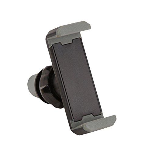 【Stonfecn】スマホ車載ホルダー 携帯 スマホスタンド 片手操作できる エアコン吹き出し口 360度回転可能 スマートフォン 端末ホルダー 携帯デバイス車載スタンド/ホルダー/カーマウント/車載マウント ポータブルオーディオ用(グレー)