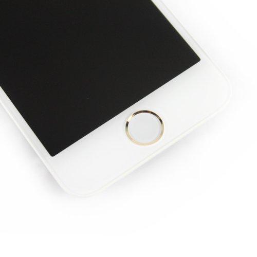 Super LCD Shop iPhone5S フロントパネル カスタムパーツ 液晶パネル LED スクリーン 修理パーツ(ホームボタン +スピーカー +フロントカメラ)(ホワイト)