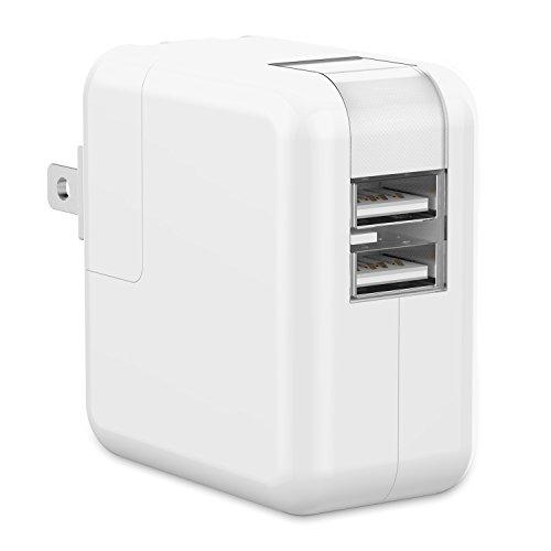 JEDirect USB充電器2ポート iPhoneAndroid対応 折畳式プラグ搭載 ホワイト - 0740