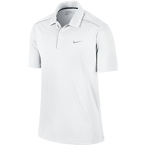 ナイキ ゴルフ メンズ ポロシャツ NIKE 587248 キー アイコニック ポロ M,100/ホワイト