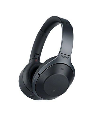 ソニー SONY ワイヤレスノイズキャンセリングヘッドホン MDR-1000X : ハイレゾ/Bluetooth対応 マイク付き ブラック MDR-1000X B