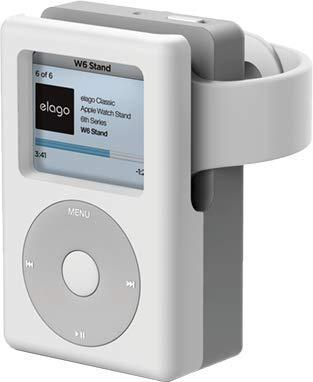 【elago】 Apple Watch 充電 スタンド シリコン 充電ドック アクセサリー ノスタルジック レトロデザイン W6 STAND [ AppleWatch Series4 40mm /44mm & Series3 Series2 series1 38mm / 42mm アップルウォッチ 各種対応 ] ホワイト