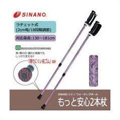 SINANO シナノ ウォーキングポール もっと安心2本杖 ヴィクトリアン
