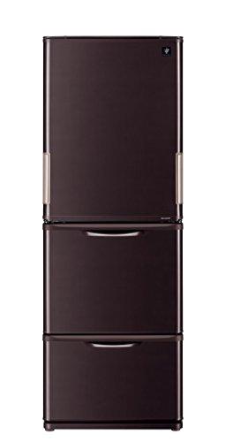 シャープ 冷蔵庫 どっちもドア プラズマクラスター搭載 350Lタイプ ブラウン SJ-PW35C-T