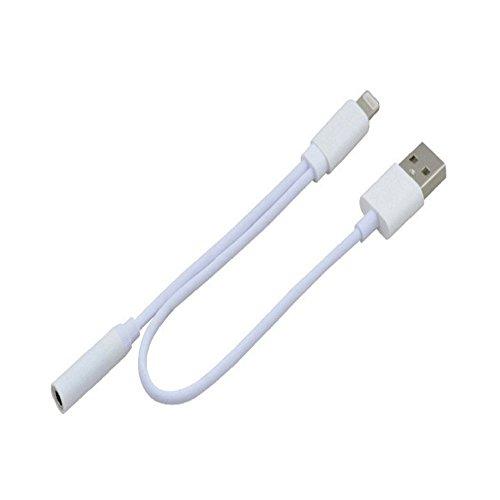LANYI iPhone 7 7 Plus ライトニングポート8pin ライトニングケーブル 3.5mm Audio オーディオ イヤホン ジャック 変換 アダプタ 充電ケーブル
