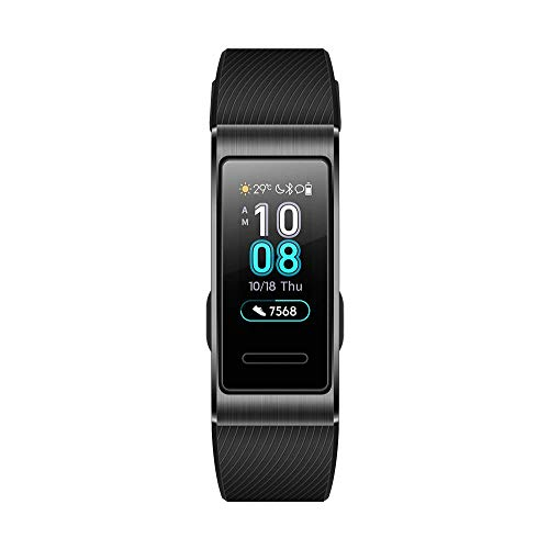 Huawei Band 3 Pro/ブラック スマートウォッチ ※GPS内蔵 0.95インチ 約25g 自動心拍計測 通常時約10日間使用可能【日本正規代理店品】 Band 3 Pro/Obsidian Black