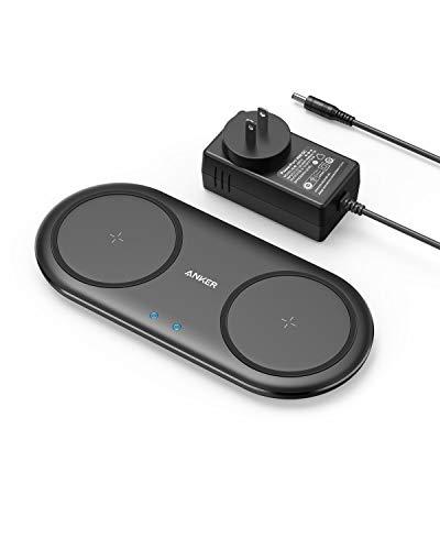Anker PowerWave 10 Dual Pad, ワイヤレス充電器 Qi 認証 iPhone Samsung Galaxy LG AirPods 対応 5W & 7.5W & 10W 出力 置くだけ充電 ACアダプター付属 ブラック