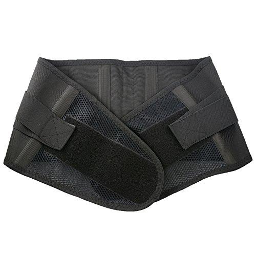 伸縮性 メッシュ コルセット 腰用 サポート ベルト L サイズ ぎっくり 腰 予防 腰痛 対策 サポーター 男 女 兼用 ブラック SO0002 (L)