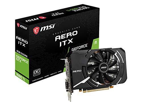 MSI GeForce GTX 1660 Ti AERO ITX 6G OC グラフィックスカード ブラック [国内正規流通品]