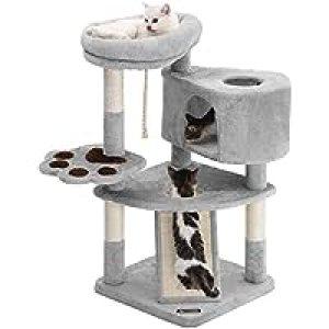 FEANDREA キャットタワー スロープ付き 登り降りしやすい 爪とぎ 猫タワー 子猫とシニアも楽々 95cm NPCT40W クリスマス