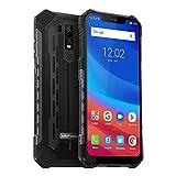 Ulefone Armor 6 (2019新品)アウトドア スマートフォン IP68 IP69K 防水 防塵 耐衝撃 アウトドア 4G(DSDV)スマホ 本体 6GB RAM +128GB ROM (256 GBまでサポートする)6.2インチ FHD+ グローバル LTE周波数帯 デュアル sim (nano) 5000mAh大容量バッテリー NFC OTG QI対応 技適認証済み 指紋認証 顔認証 一年保証 au不可( 黒)