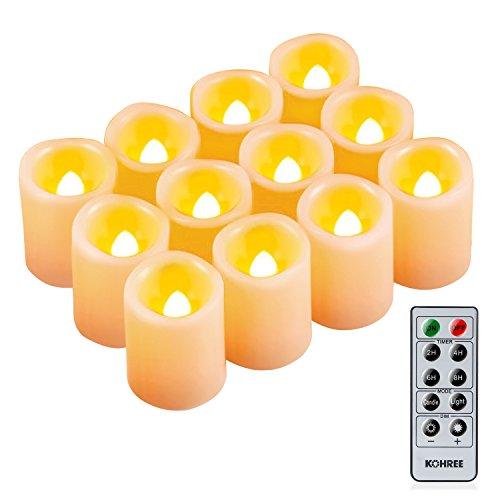 Kohree より良い雰囲気 LEDキャンドル フレームレスキャンドル 12個セット インドア、アウトドア通用 ...