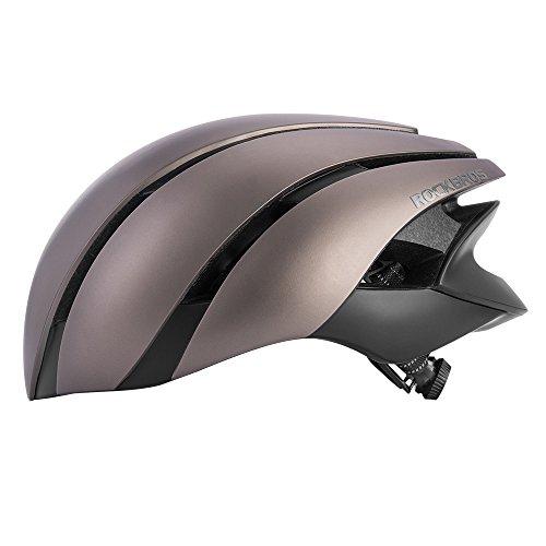 ROCKBROS(ロックブロス)自転車 ヘルメット 超軽量 高剛性 カブト 大人用 通気性 サイズ調整可能 (頭 囲57-62㎝)(グレー)
