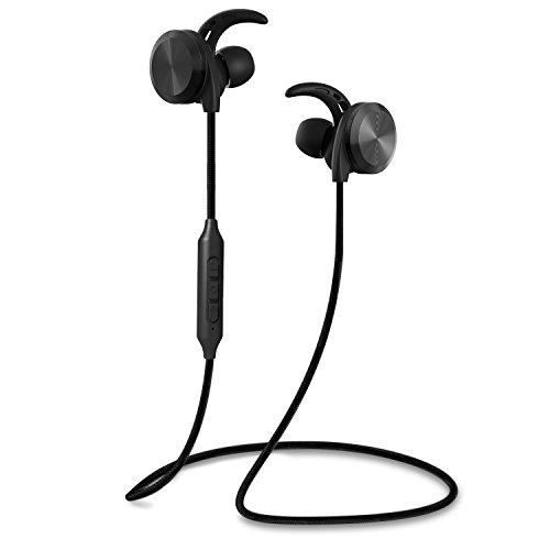 RIVERSONGリバーソング 2016年最新モデル 高音質Bluetooth 4.1 スポーツイヤホン ワイヤレス ヘッドセット 磁石付き ナイロン材質ケーブル 汗や雨などの水滴から守れる 日本語説明書付き ブラック