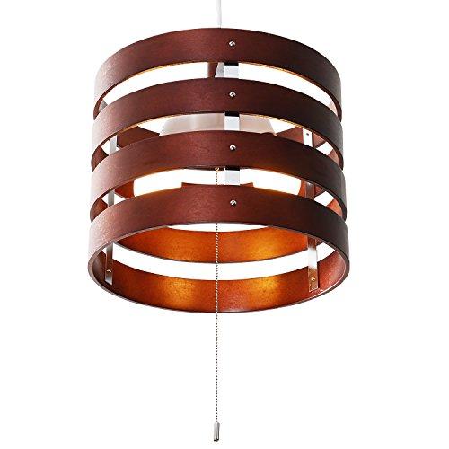 LOWYA (ロウヤ) 照明 ライト ペンダントライト インテリア照明 ウッドリングLED電球対応 ブラウン おしゃれ 新生活