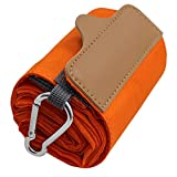 折りたたみ防水買い物袋 L オレンジ