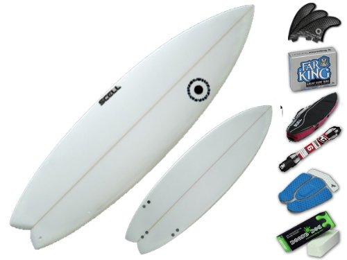 ショートボード5'11 クリアセット●サーフボード◆SCELL サーフィン 初心者7点SET ステップアップモデル