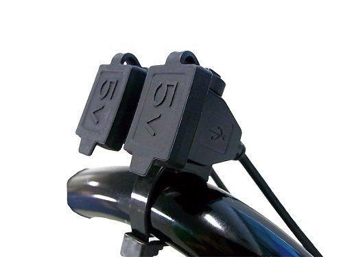 ニューイング(NEWING)  バイク用電源  USBステーション ダブル2  USB端子2口タイプ  MAX4.2A(2.1A×2)  NS-005