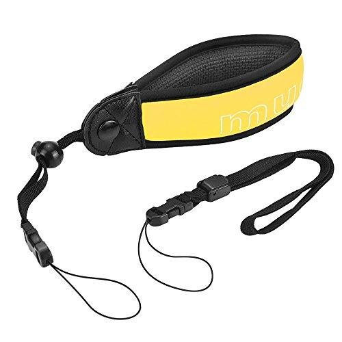 Mudderカメラフローティングストラップ フロートストラップ 調節可能なリストバンド付き (黄色)
