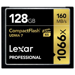 Lexar Professional 1066x CompactFlashカード 128GB 国内正規品 制限付永久保証 LCF128CRBJPR1066