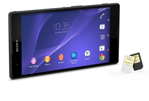 【海外版SIMフリー】Sony ソニー XPERIA T2 Ultra Dual D5322 【dual デュアルSIM】 [並行輸入品] (ブラック)