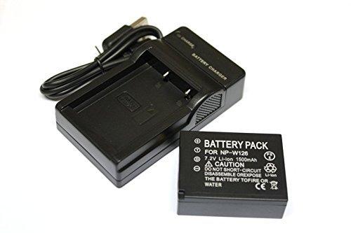 エーポケ NP-W126対応大容量バッテリー&USB充電器セット 富士フィルム FUJIFILM FinePix HS30EXR / FinePix HS50EXR/ X-Pro1/ X-E1/ X-M1/ X-E2 / X-A1/ X-T1