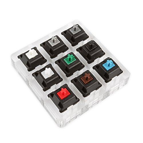 LeaningTech キースイッチ メカニカルキーボード キーカップ キーカバー Cherry MX (9軸)