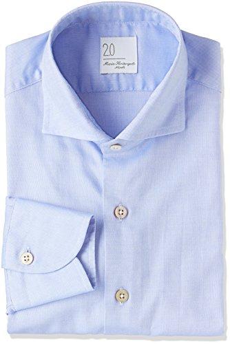 (マリアサンタンジェロ)Maria Santangelo QUEEN OPERATO DIS 900A ワイドシャツ MEN'S SHIRT 3 SAX ブルー 37