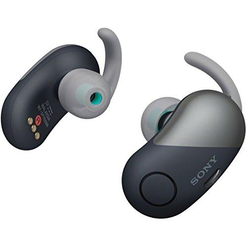ソニー SONY 完全ワイヤレスノイズキャンセリングイヤホン WF-SP700N BM : Bluetooth対応 左右分離型 防滴仕様 2018年モデル ブラック