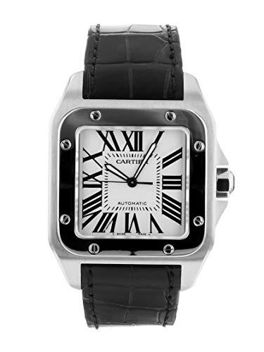 [カルティエ] ROLEX 腕時計 W20073X8 サントス100 LM SS/レザー ホワイト文字盤 メンズ 自動巻き [中古品] [並行輸入品]