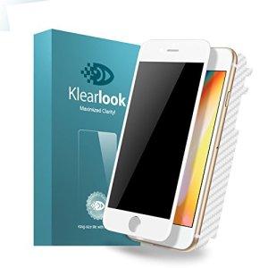 Klearlook Iphone 8/Iphone 7用 強化ガラス保護フィルム 覗き見防止 ケースに干渉せず 気泡0 白