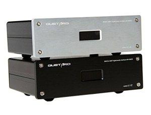 GUSTARD U12 32Bit / 384KHz XMOS USB デジタル オーディオ インタフェース(銀)
