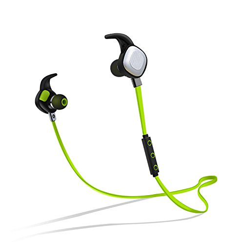 PLAY X STORE - ワイヤレス イヤホン Bluetooth 4.1 ヘッドセット 高音質スポーツイヤホン カナル型 イヤーバッド ノイズキャンセリング搭載 IPX7防水/ 防汗 apt-Xコーデック採用 外れにくい ハンズフリー通話 マイク内蔵