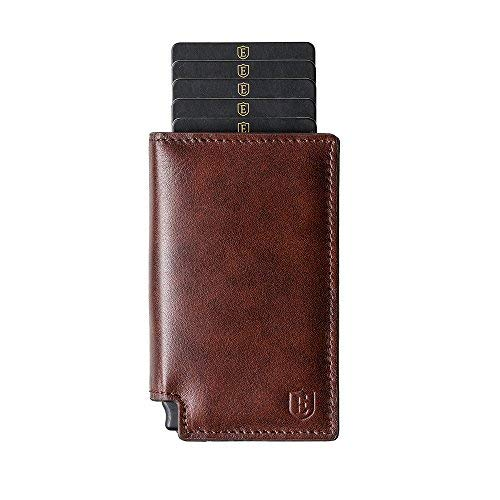 Ekster カードケース+マネークリップ Parliament Wallet Classic Brown