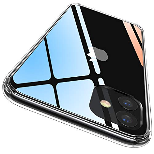 CASEKOO iPhone 11 ケース 6.1インチ クリア 薄型 米軍MIL規格 耐衝撃 透明カバー 衝撃吸収 四隅滑り止め ワイヤレス充電対応 アイフォン 11 ケース 全面保護 SGS認証 2019年6.1インチ用カバー(クリア)