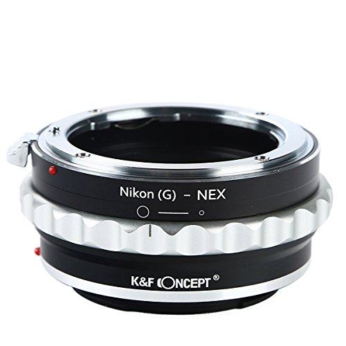 K&F Concept レンズマウントアダプター KF-NGE (ニコンFマウント(Gタイプ対応)レンズ → ソニーEマウント変...