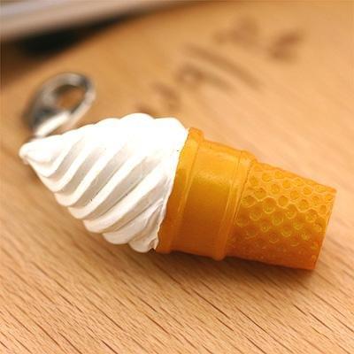 ソフト・アイス 食品サンプル ミニチュア マスコット アクセサリー ソフトクリーム/バニラ