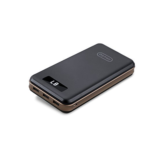 iMuto 30000mAh モバイルバッテリー 大容量 3 USB ポート搭載 携帯充電器 モバイルバッテリー 急速充電 スマートデジタルスクリーン Nintendo Switch NS ゲーム機 / iPhone X 10 8 7 6 Plus / iPad / Android / Xperia Nexus 6P 5X/MacBook/各種スマホ / タブレット/ Wi-Fiルータ 等対応 カラー:ブラック 「バージョンアップ」 【厳選】超大容量モバイルバッテリーが地震・台風・災害時の電気がない時に役立つ!復旧するまでに絶対持っておきたいオススメのモバイルバッテリー10選特集。【ソーラー充電・ケーブル内蔵型】