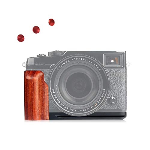 WEPOTO GP-XPRO2メタルブラケットカメラ木製ハンドグリップハンドルL-ブラケット富士X-Pro2に適用される