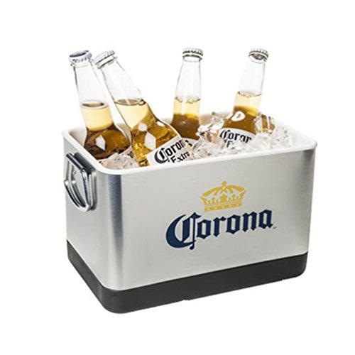 Corona Beer & Ice Bucket - Stainless Steel by Corona