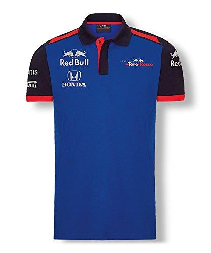 【 Toro Rosso 】 スクーデリア トロロッソ ホンダ F1 Racing Team オフィシャル レプリカ ポロシャツ (L身幅55m着丈76cm)