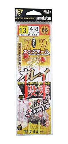 がまかつ(Gamakatsu) 投カレイ段差誘惑3本仕掛 K144 13号-ハリス4