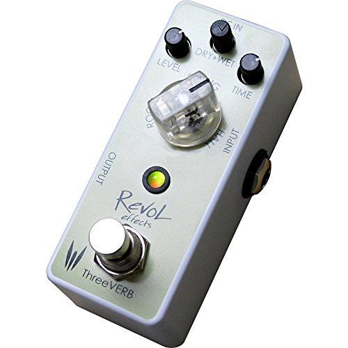 Revol effects レヴォルエフェクツ エフェクター リバーブ ThreeVERB ERV-01 【RevoL effects一覧・動画あり】3000円で買えるエフェクターが安くて小さくて音も良さそう!
