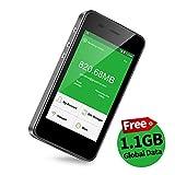 【公式販売】GlocalMe G3 モバイルWiFiルーター simフリー 1.1ギガ分のグローバルデータパック付け 4G高速通信 世界140国・地区以上対応 iPhone・Xperia・Huawei・Galaxy・iPadなど対応 5350mAh充電バッテリー搭載 ポケットwifi(ブラック)